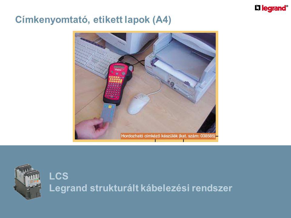 Címkenyomtató, etikett lapok (A4)