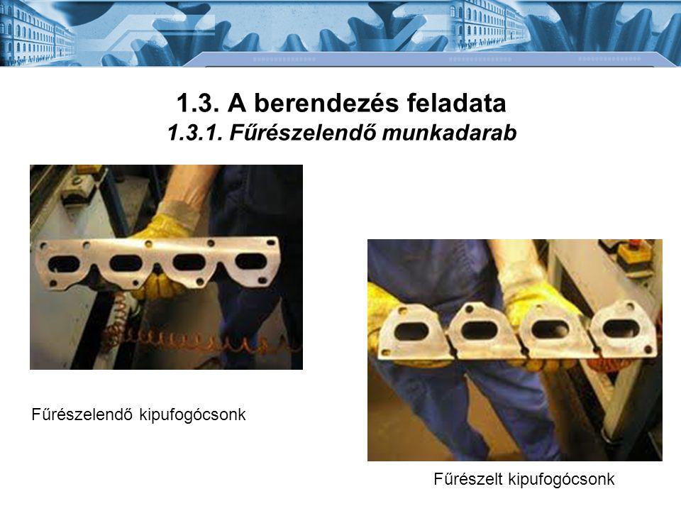 1.3. A berendezés feladata 1.3.1. Fűrészelendő munkadarab