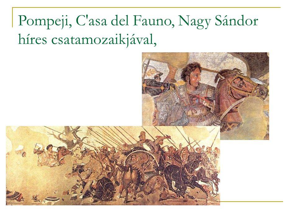 Pompeji, C asa del Fauno, Nagy Sándor híres csatamozaikjával,