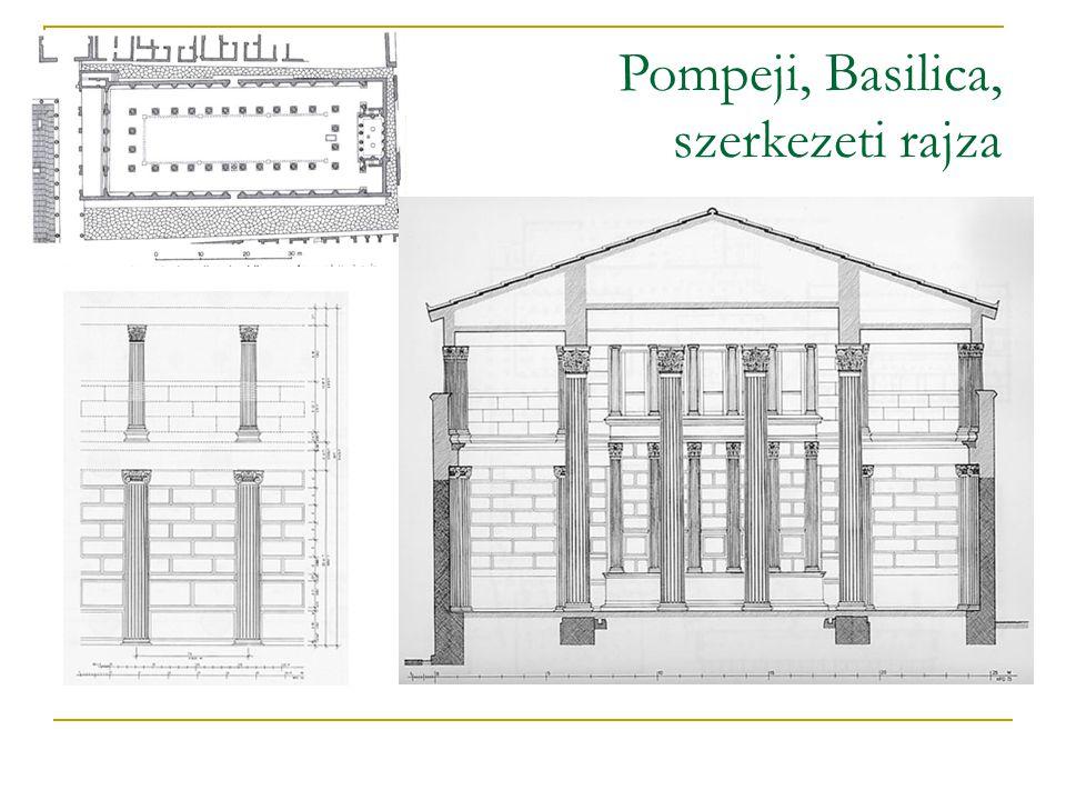 Pompeji, Basilica, szerkezeti rajza