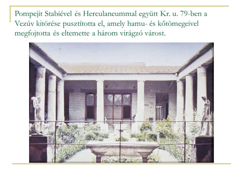 Pompejit Stabiével és Herculaneummal együtt Kr. u