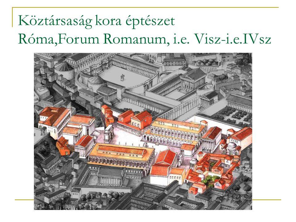 Köztársaság kora éptészet Róma,Forum Romanum, i.e. Visz-i.e.IVsz
