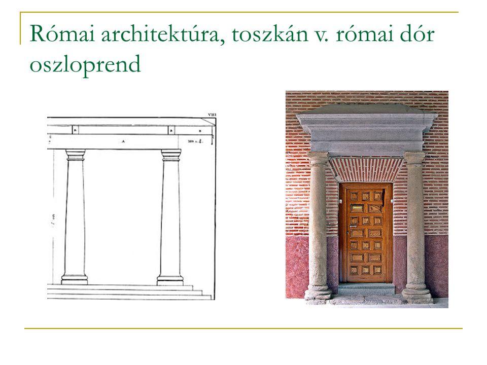 Római architektúra, toszkán v. római dór oszloprend