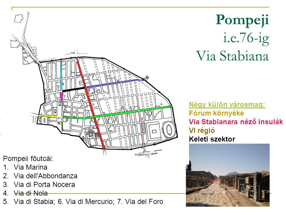 Pompeji i.e.76-ig Via Stabiana