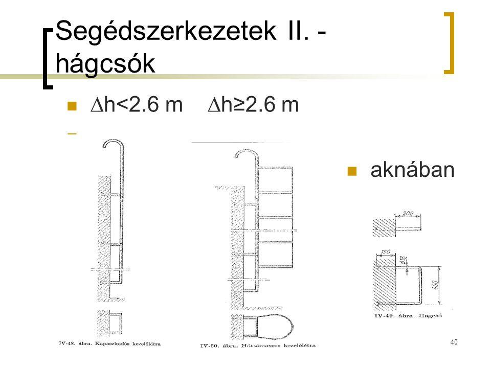Segédszerkezetek II. - hágcsók