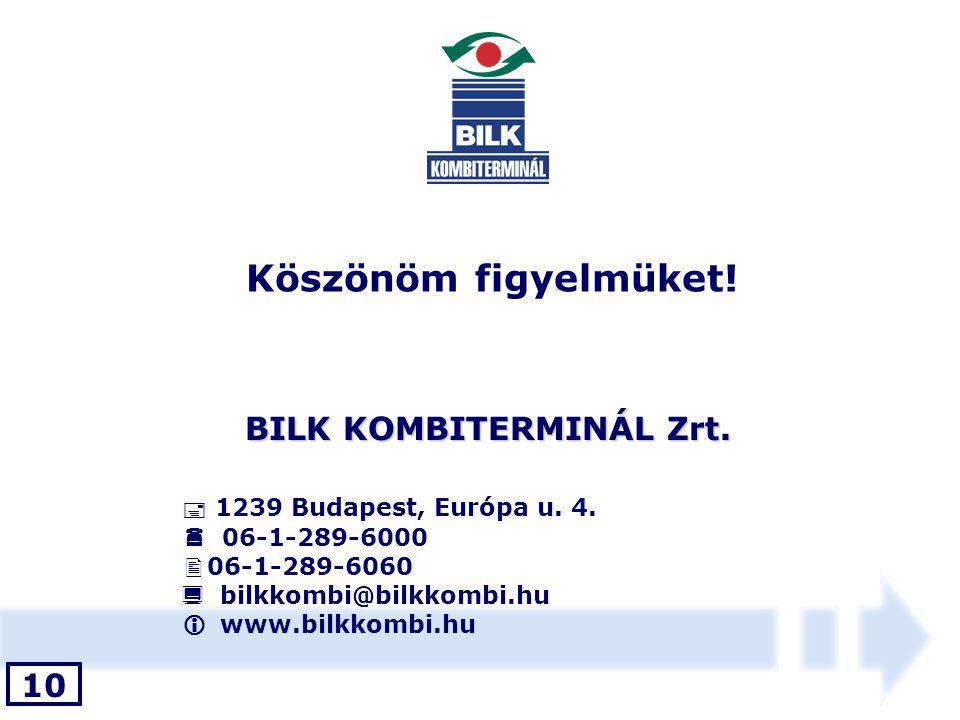 BILK KOMBITERMINÁL Zrt.