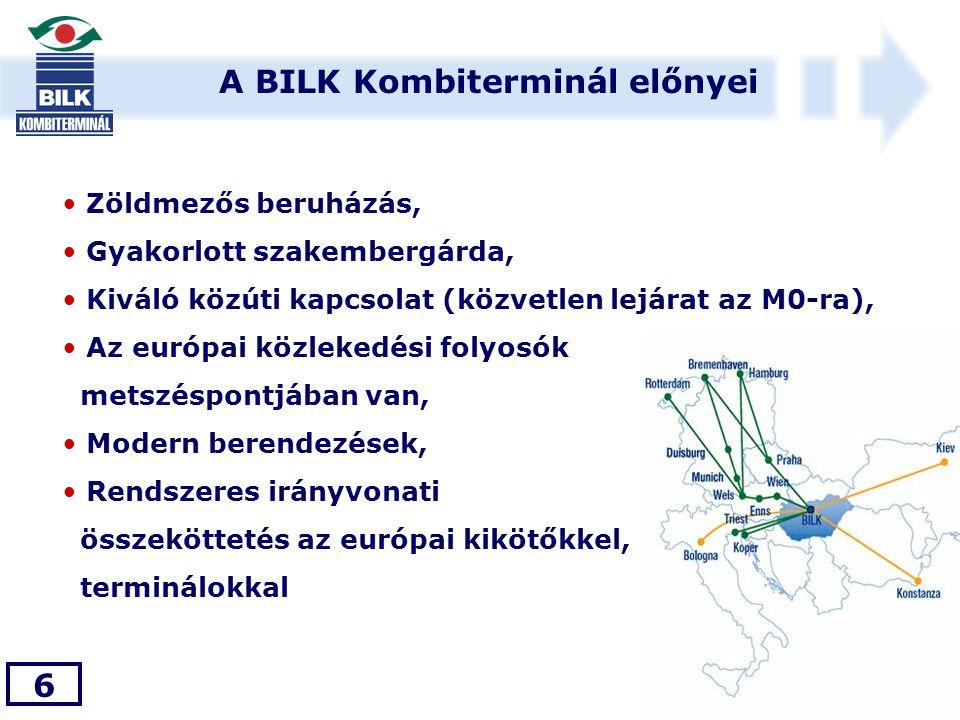 A BILK Kombiterminál előnyei