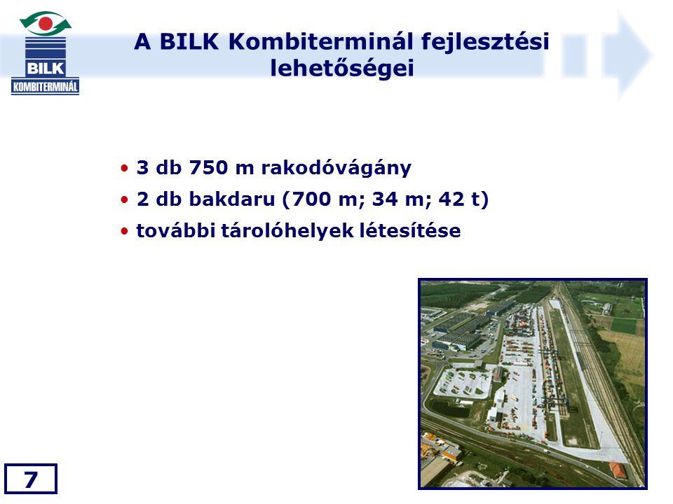 A BILK Kombiterminál fejlesztési lehetőségei