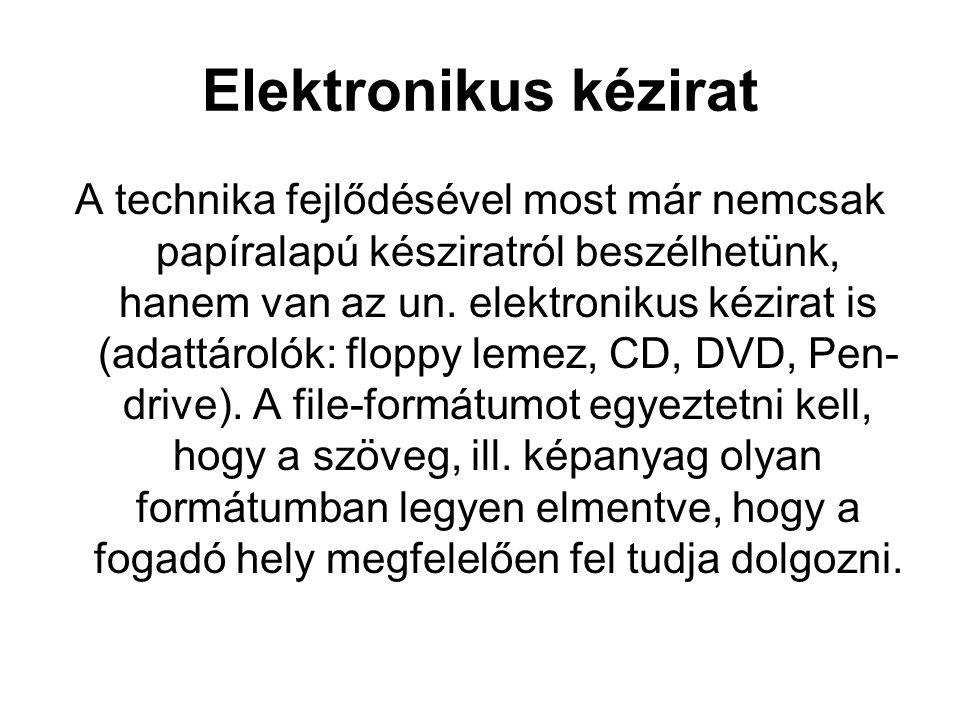 Elektronikus kézirat