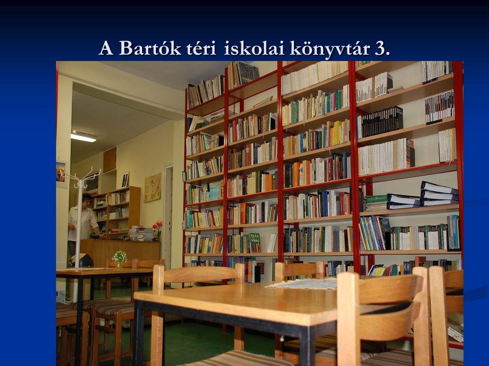 A Bartók téri iskolai könyvtár 3.