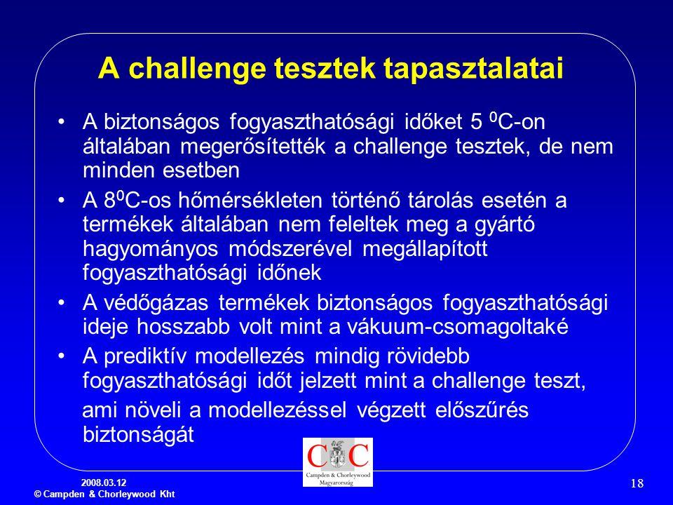 A challenge tesztek tapasztalatai