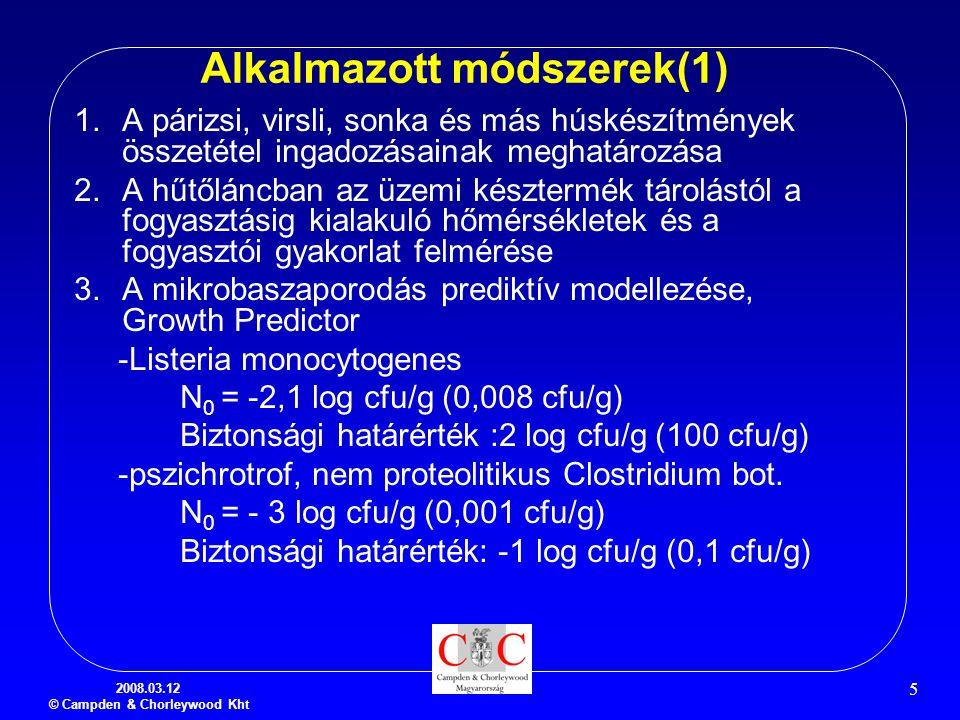 Alkalmazott módszerek(1)