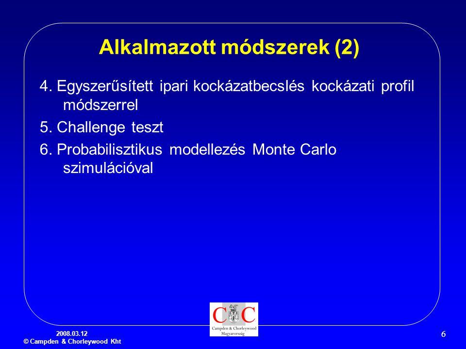 Alkalmazott módszerek (2)