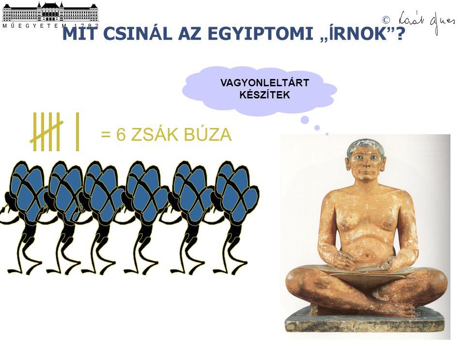 """MIT CSINÁL AZ EGYIPTOMI """"ÍRNOK"""
