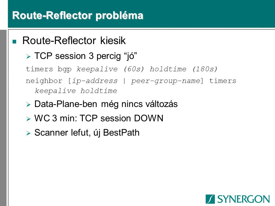 Route-Reflector probléma