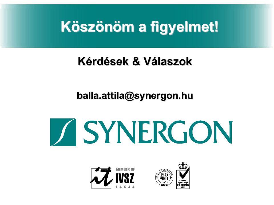 Kérdések & Válaszok balla.attila@synergon.hu
