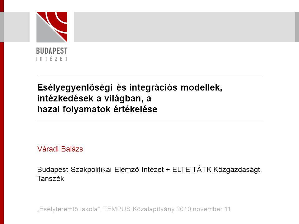 Esélyegyenlőségi és integrációs modellek, intézkedések a világban, a