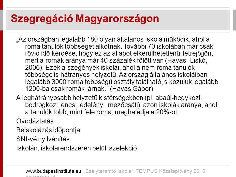 Szegregáció Magyarországon