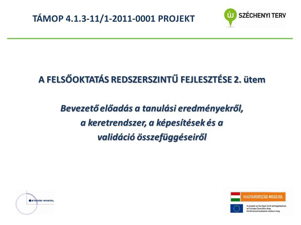 TÁMOP 4.1.3-11/1-2011-0001 PROJEKT