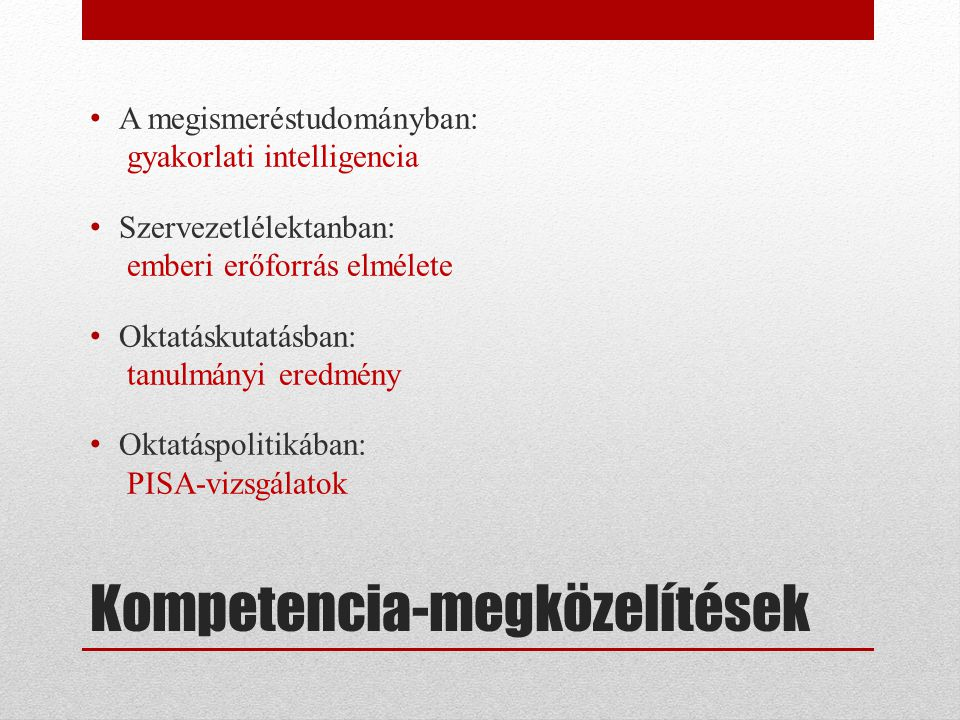 Kompetencia-megközelítések