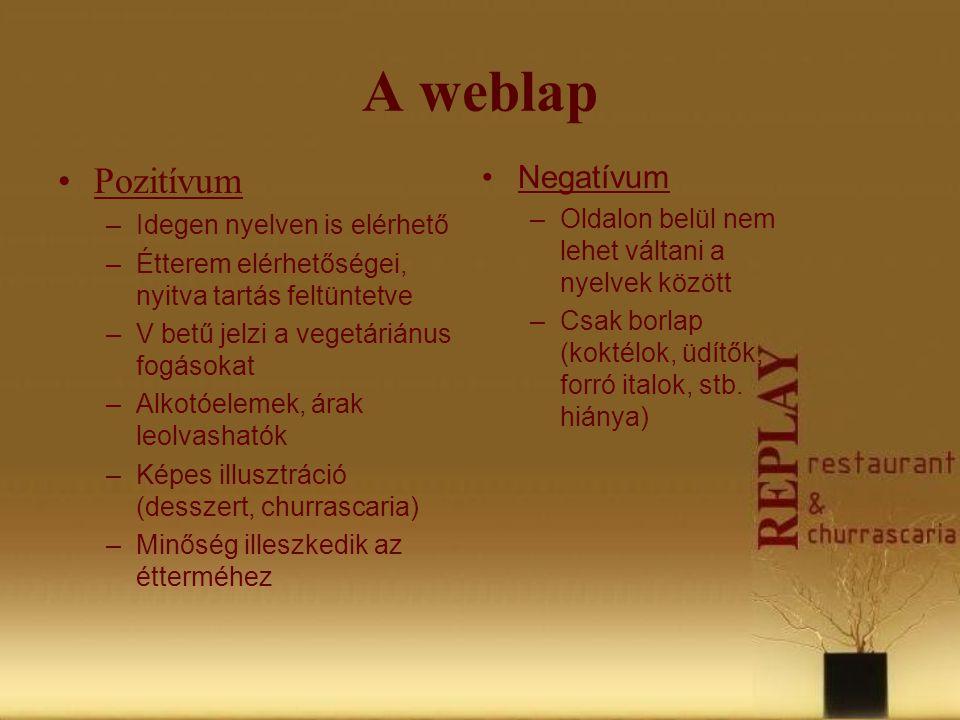 A weblap Pozitívum Negatívum