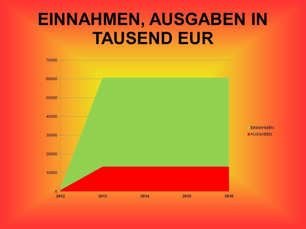 EINNAHMEN, AUSGABEN IN TAUSEND EUR