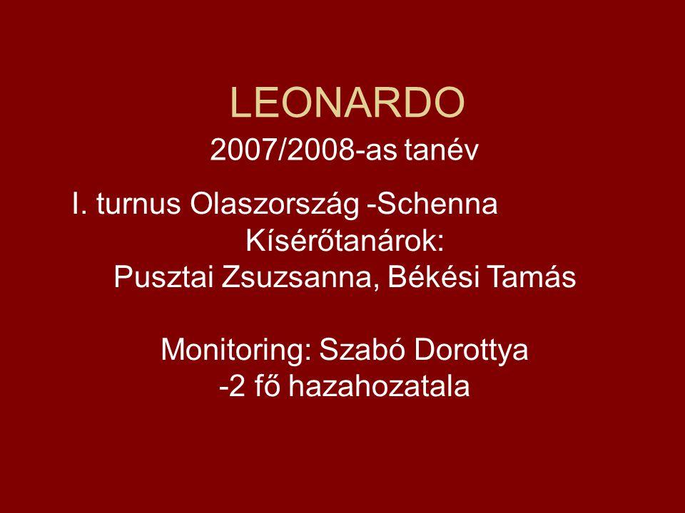 LEONARDO 2007/2008-as tanév I. turnus Olaszország -Schenna