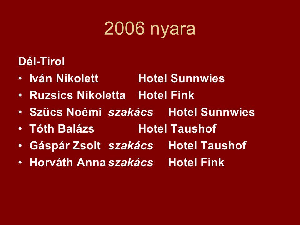 2006 nyara Dél-Tirol Iván Nikolett Hotel Sunnwies