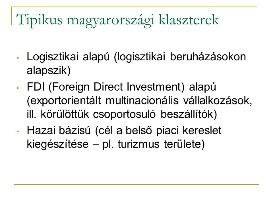 Tipikus magyarországi klaszterek
