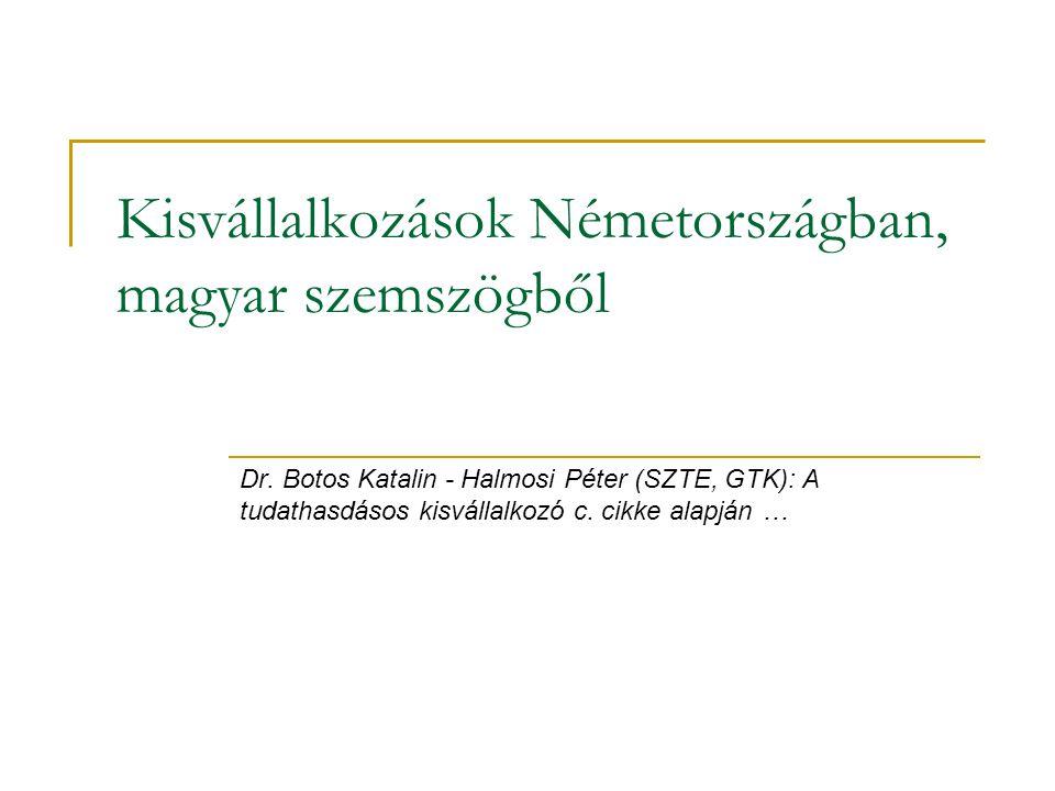 Kisvállalkozások Németországban, magyar szemszögből