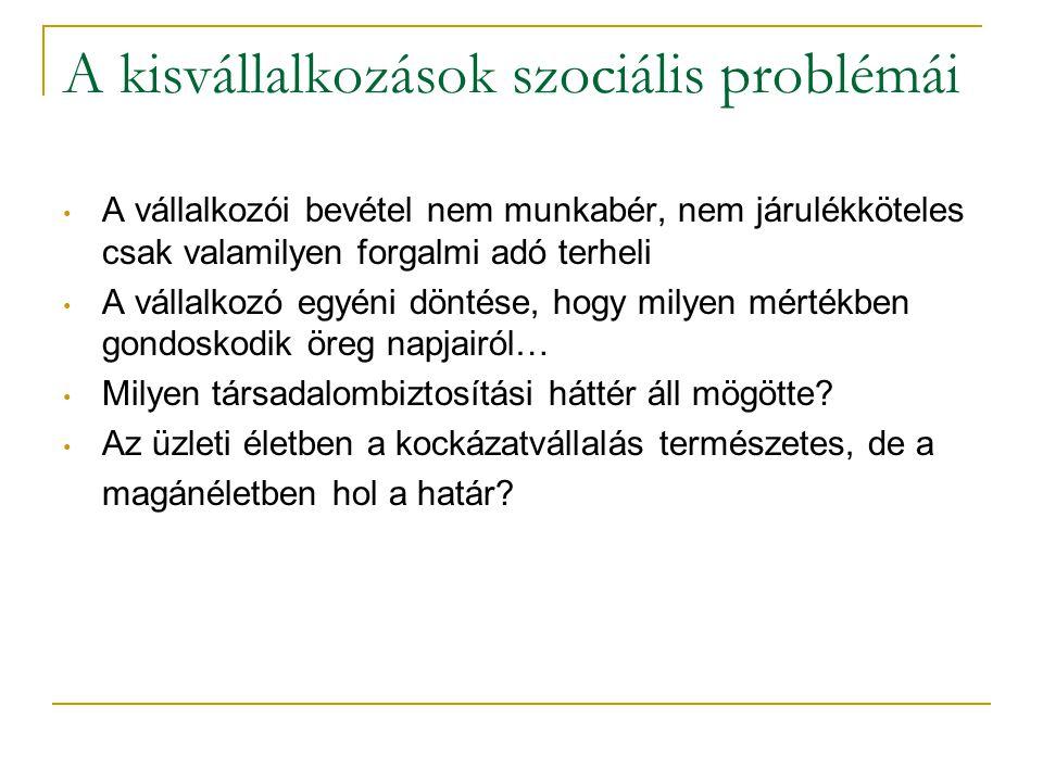 A kisvállalkozások szociális problémái