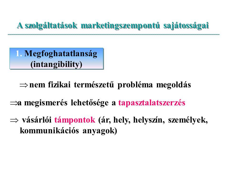 A szolgáltatások marketingszempontú sajátosságai
