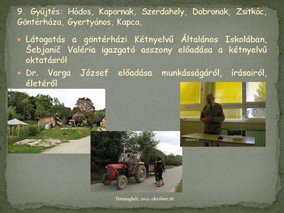 Dr. Varga József előadása munkásságáról, írásairól, életéről