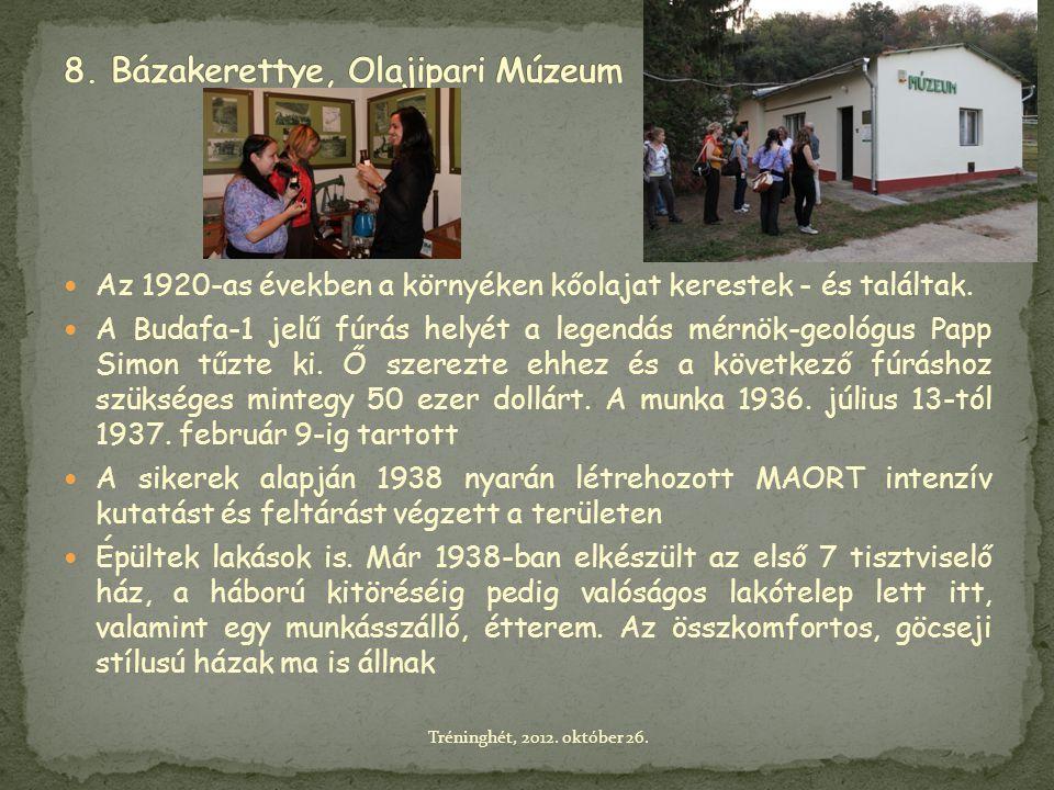 8. Bázakerettye, Olajipari Múzeum