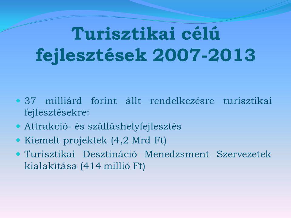 Turisztikai célú fejlesztések 2007-2013