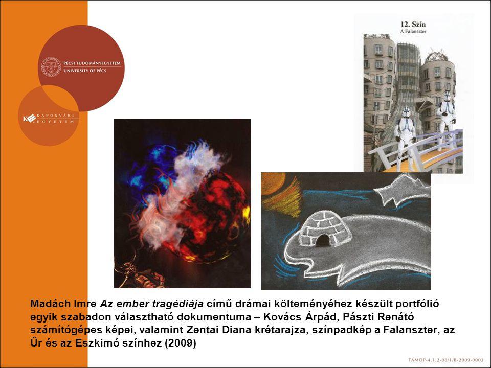 Madách Imre Az ember tragédiája című drámai költeményéhez készült portfólió