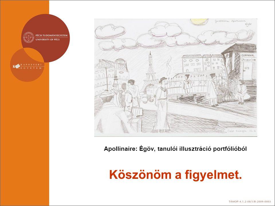 Apollinaire: Égöv, tanulói illusztráció portfólióból