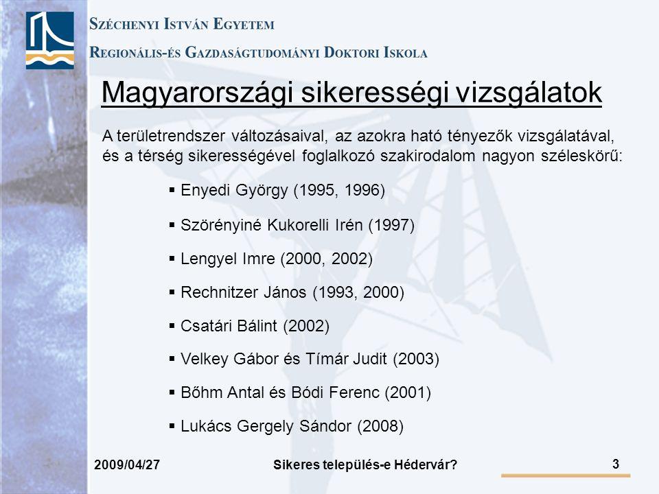 Magyarországi sikerességi vizsgálatok