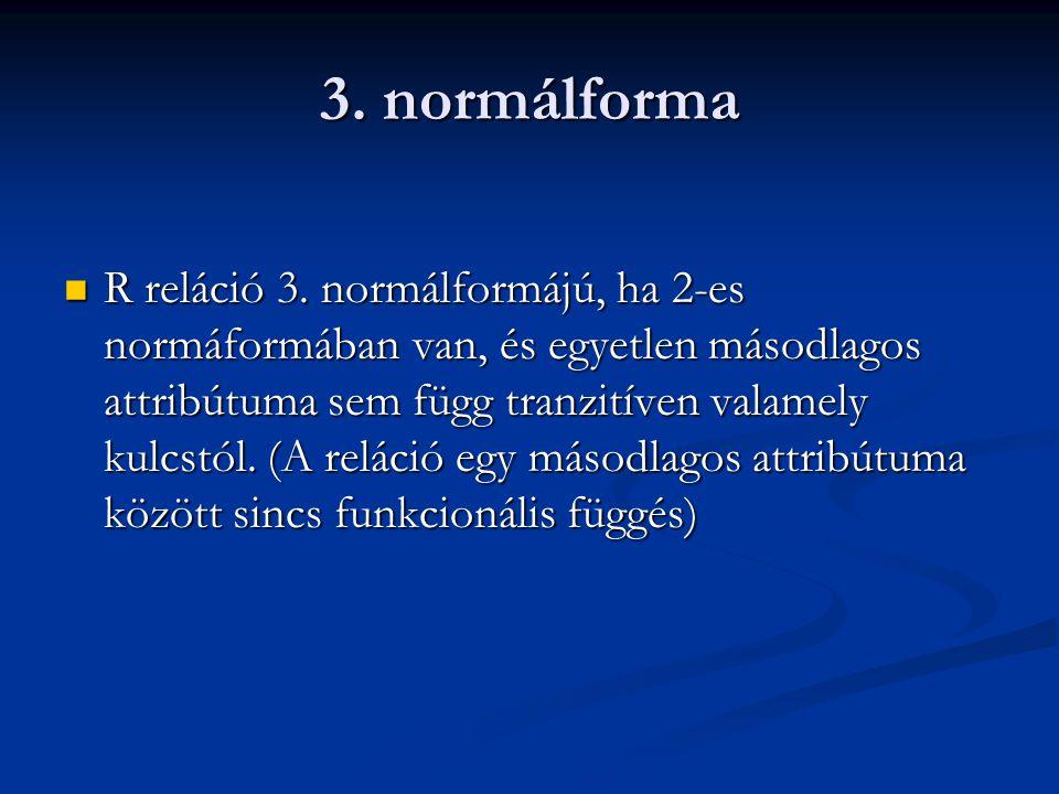 3. normálforma
