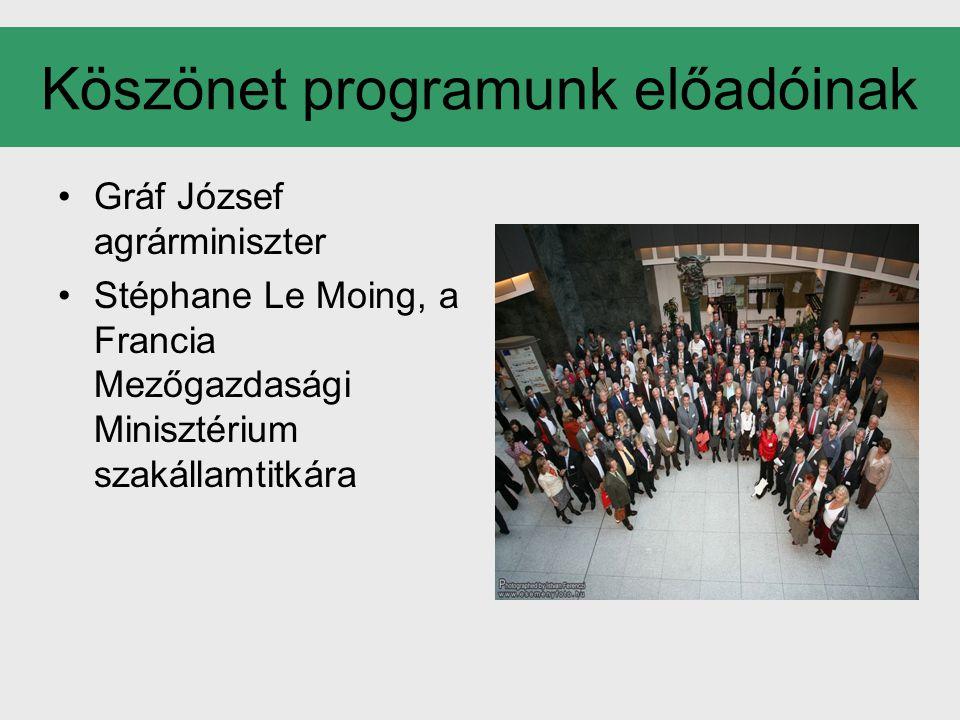 Köszönet programunk előadóinak