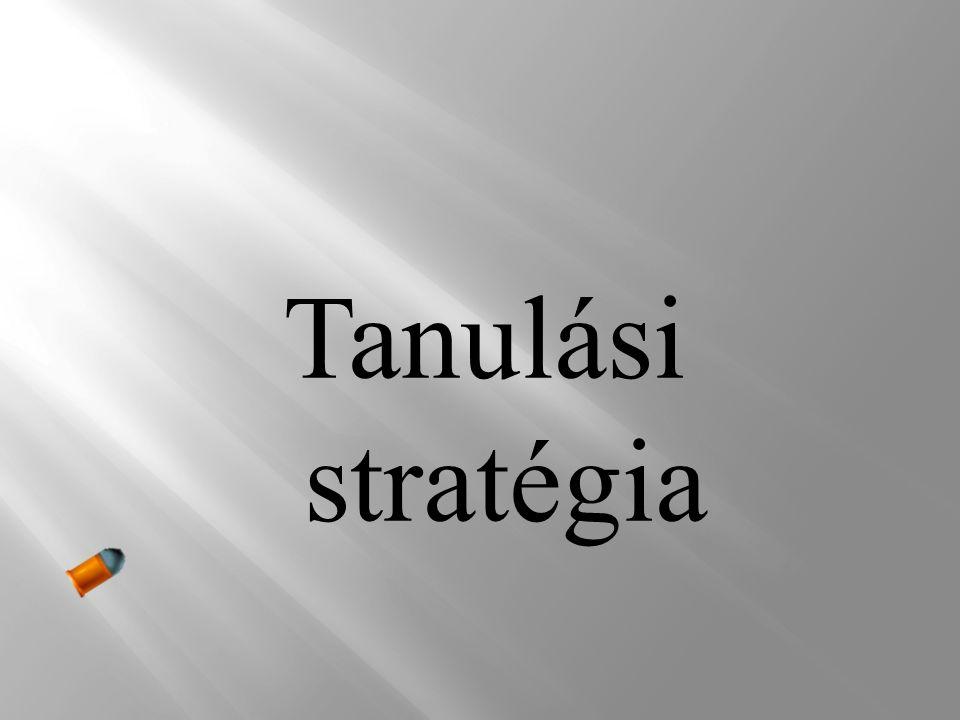 Tanulási stratégia
