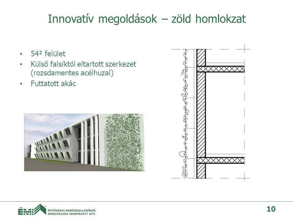 Innovatív megoldások – zöld homlokzat
