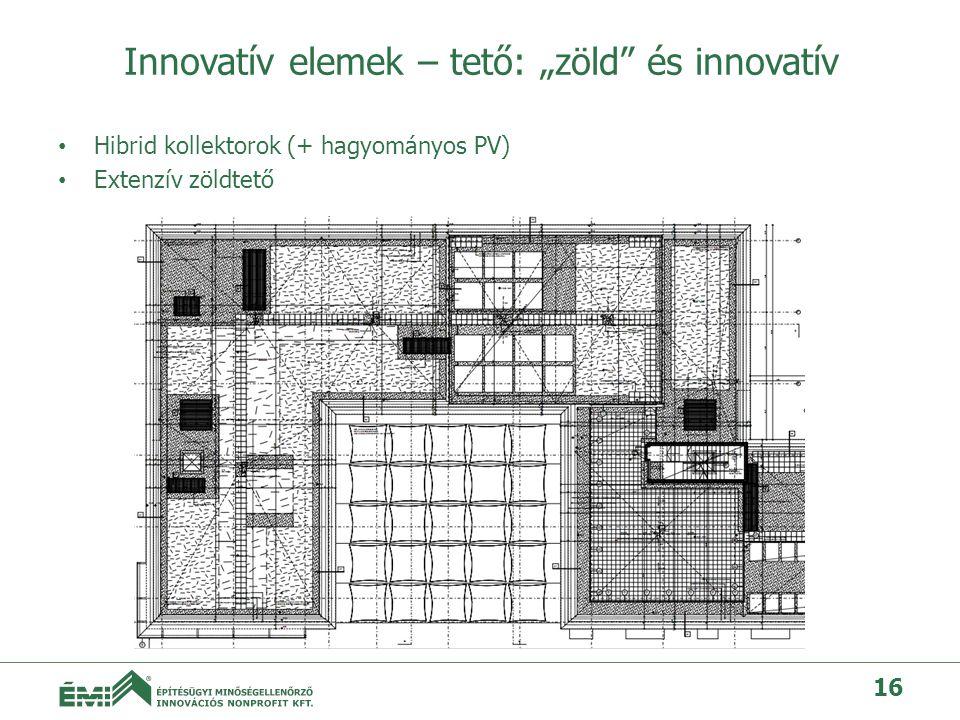 """Innovatív elemek – tető: """"zöld és innovatív"""