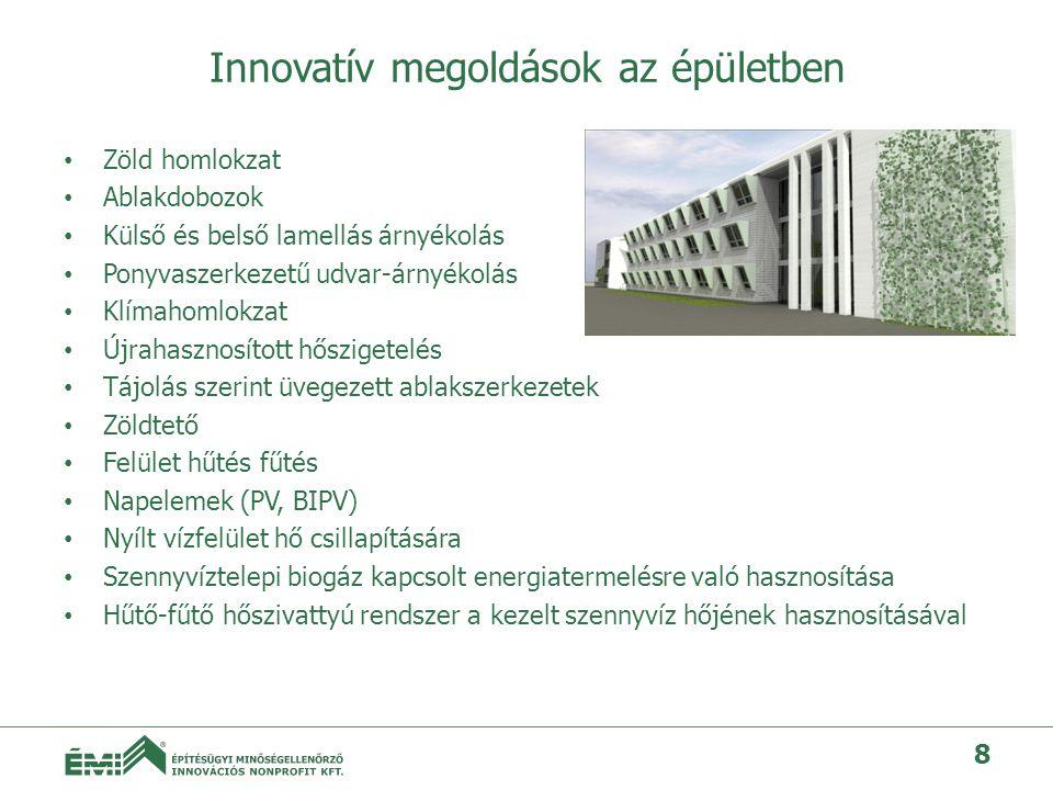 Innovatív megoldások az épületben