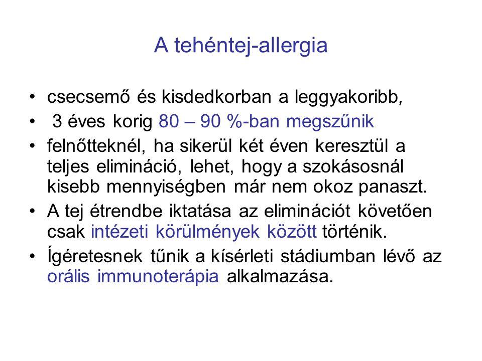 A tehéntej-allergia csecsemő és kisdedkorban a leggyakoribb,