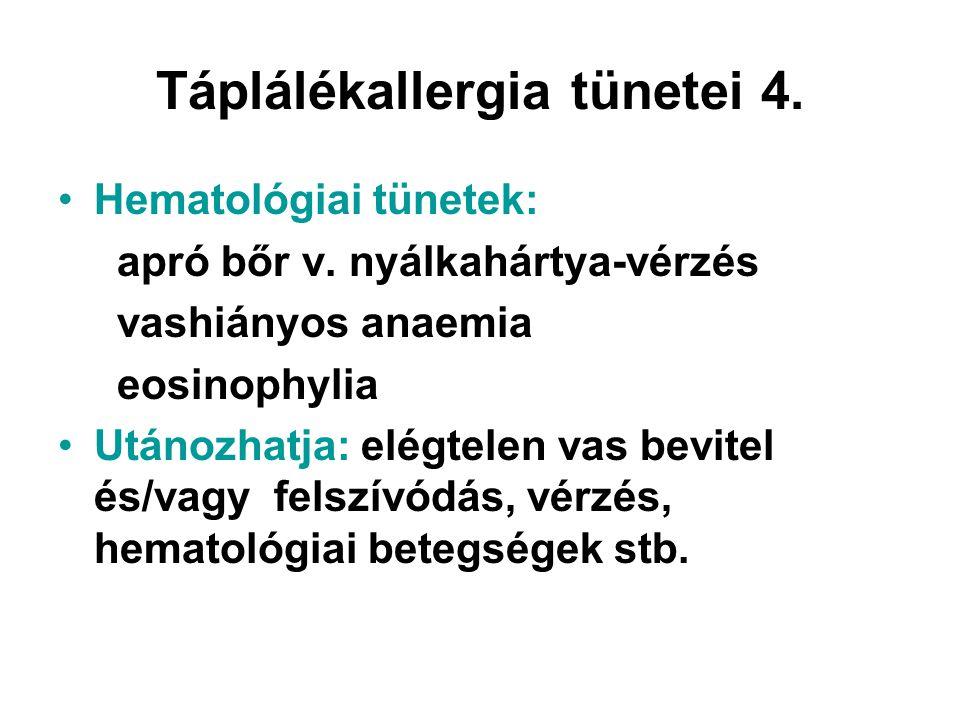 Táplálékallergia tünetei 4.