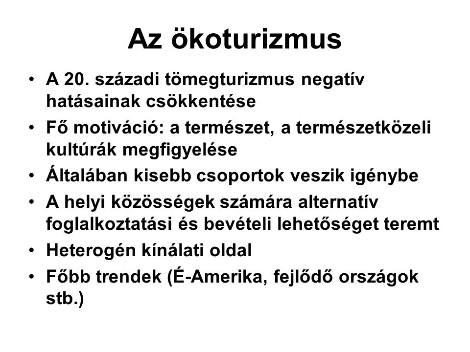 Ökoturisztika Magyarországon