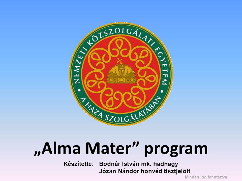 """""""Alma Mater program Készítette: Bodnár István mk. hadnagy"""