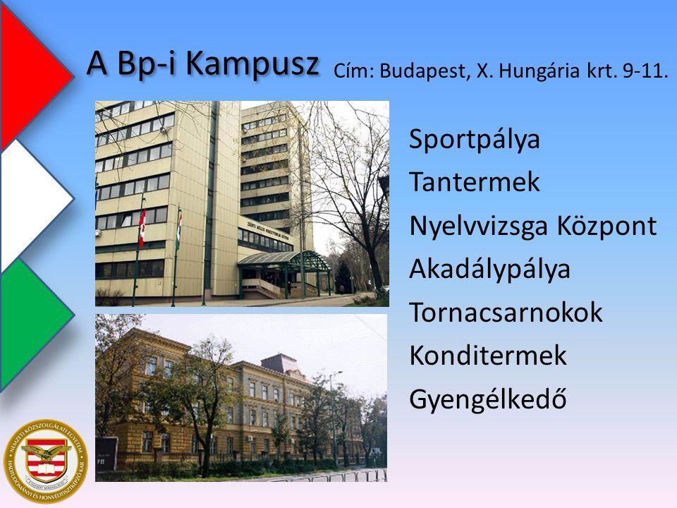 A Bp-i Kampusz Cím: Budapest, X. Hungária krt. 9-11.