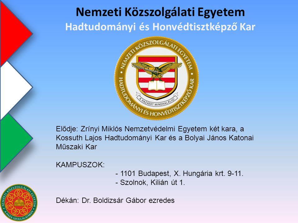 Nemzeti Közszolgálati Egyetem Hadtudományi és Honvédtisztképző Kar